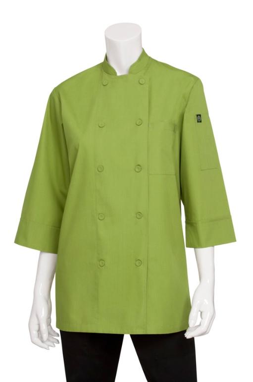 Filipina verde para dama manga ¾ extraligera (JLCLLIM)